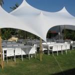 אוהל ליקרה + שולחנות אבירים באירוע פרט
