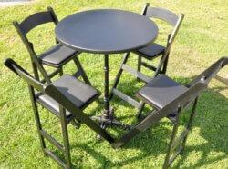 שולחן בר שחור עגול