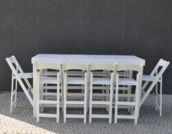 שולחן בר מלבני